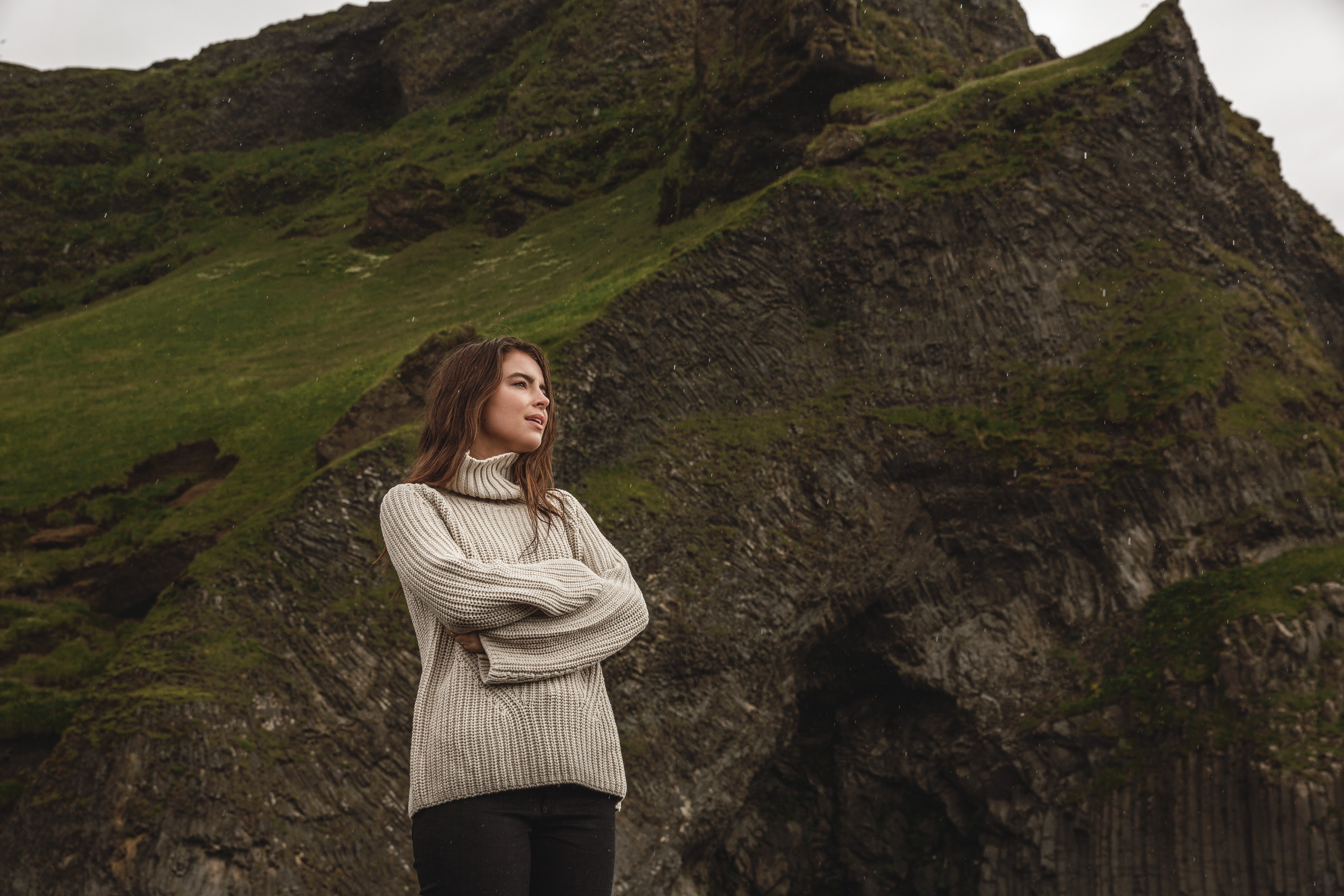 Katherine in Iceland wearing 525 America